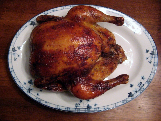 Embrace Your Chicken, Part 1:Oven Roasted Chicken with a Sweet and Spicy Glaze