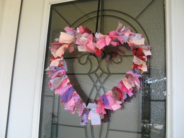 Heart Shaped Rag Wreath – Inspired By Pinterest Part 2