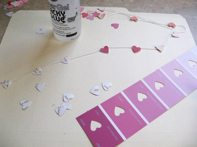 Valentine's Day Heart Garland – Inspired by Pinterest