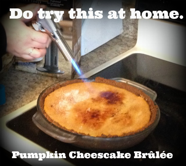 pumpkin cheesecake brûlée