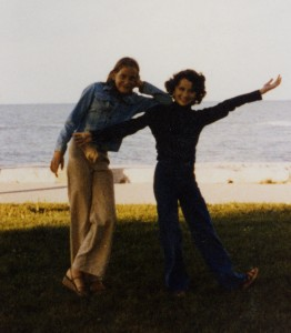 The author, when she was about Quinny & Hopper's age, posing with her childhood neighbor and bff, Kirsten